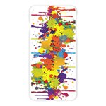 Crazy Multicolored Double Running Splashes Apple Seamless iPhone 6 Plus/6S Plus Case (Transparent) Front