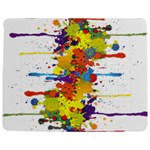Crazy Multicolored Double Running Splashes Jigsaw Puzzle Photo Stand (Rectangular) Front