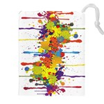 Crazy Multicolored Double Running Splashes Drawstring Pouches (XXL) Front