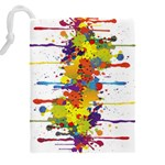 Crazy Multicolored Double Running Splashes Drawstring Pouches (XXL) Back