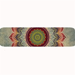 Folk Art Lotus Mandala Dirty Blue Red Large Bar Mats