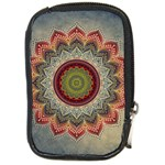 Folk Art Lotus Mandala Dirty Blue Red Compact Camera Cases Front
