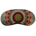 Folk Art Lotus Mandala Dirty Blue Red Sleeping Masks Front
