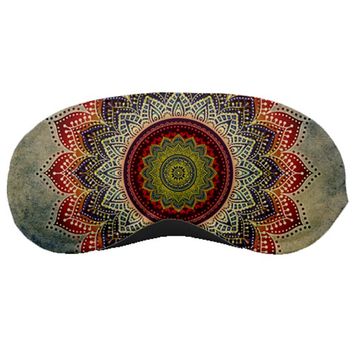 Folk Art Lotus Mandala Dirty Blue Red Sleeping Masks