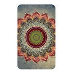 Folk Art Lotus Mandala Dirty Blue Red Memory Card Reader Front