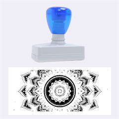 Folk Art Lotus Mandala Dirty Blue Red Rubber Stamps (Large)
