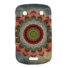 Folk Art Lotus Mandala Dirty Blue Red Bold Touch 9900 9930