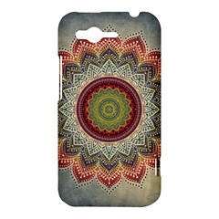 Folk Art Lotus Mandala Dirty Blue Red HTC Rhyme