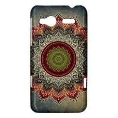 Folk Art Lotus Mandala Dirty Blue Red HTC Radar Hardshell Case