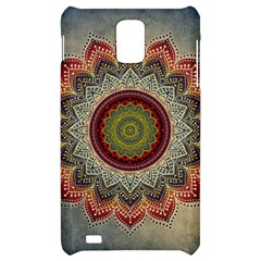 Folk Art Lotus Mandala Dirty Blue Red Samsung Infuse 4G Hardshell Case