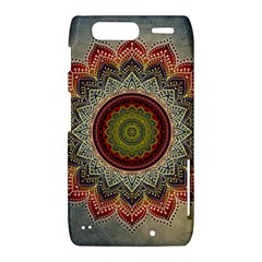 Folk Art Lotus Mandala Dirty Blue Red Motorola Droid Razr XT912