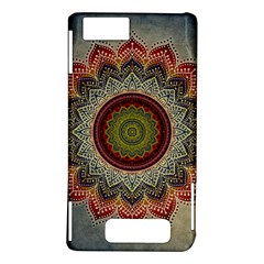 Folk Art Lotus Mandala Dirty Blue Red Motorola DROID X2