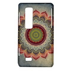 Folk Art Lotus Mandala Dirty Blue Red LG Optimus Thrill 4G P925