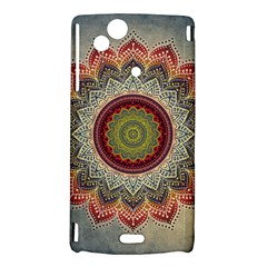 Folk Art Lotus Mandala Dirty Blue Red Sony Xperia Arc
