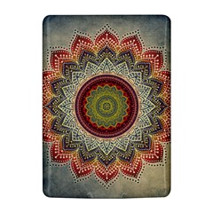 Folk Art Lotus Mandala Dirty Blue Red Kindle 4
