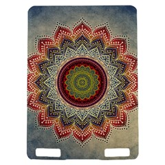 Folk Art Lotus Mandala Dirty Blue Red Kindle Touch 3G