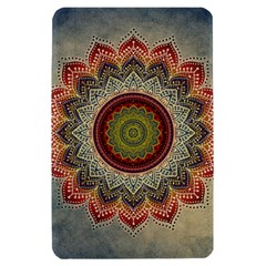 Folk Art Lotus Mandala Dirty Blue Red Kindle Fire (1st Gen) Hardshell Case