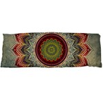 Folk Art Lotus Mandala Dirty Blue Red Body Pillow Case Dakimakura (Two Sides) Back