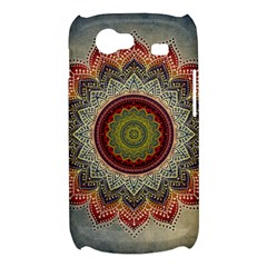 Folk Art Lotus Mandala Dirty Blue Red Samsung Galaxy Nexus S i9020 Hardshell Case