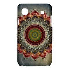 Folk Art Lotus Mandala Dirty Blue Red Samsung Galaxy SL i9003 Hardshell Case