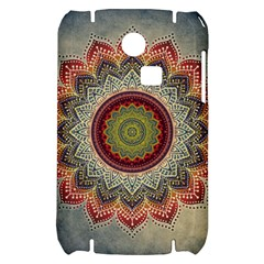 Folk Art Lotus Mandala Dirty Blue Red Samsung S3350 Hardshell Case