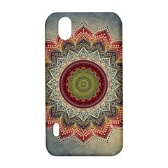 Folk Art Lotus Mandala Dirty Blue Red LG Optimus P970
