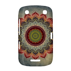 Folk Art Lotus Mandala Dirty Blue Red BlackBerry Curve 9380