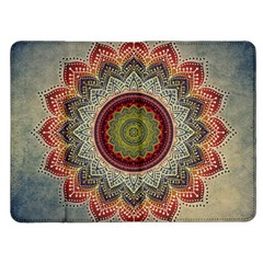 Folk Art Lotus Mandala Dirty Blue Red Kindle Fire (1st Gen) Flip Case