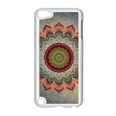 Folk Art Lotus Mandala Dirty Blue Red Apple Ipod Touch 5 Case (white)