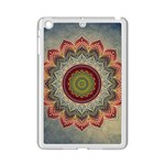 Folk Art Lotus Mandala Dirty Blue Red iPad Mini 2 Enamel Coated Cases Front