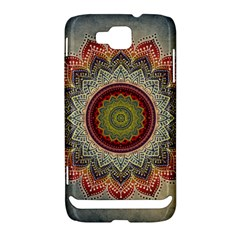 Folk Art Lotus Mandala Dirty Blue Red Samsung Ativ S i8750 Hardshell Case