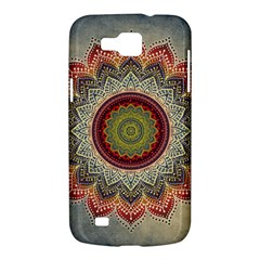Folk Art Lotus Mandala Dirty Blue Red Samsung Galaxy Premier I9260 Hardshell Case