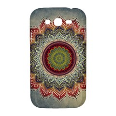 Folk Art Lotus Mandala Dirty Blue Red Samsung Galaxy Grand DUOS I9082 Hardshell Case