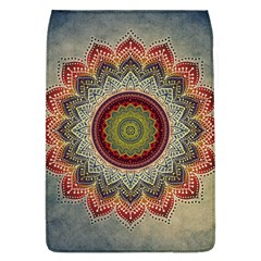 Folk Art Lotus Mandala Dirty Blue Red Flap Covers (l)