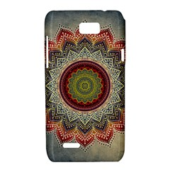 Folk Art Lotus Mandala Dirty Blue Red Motorola XT788