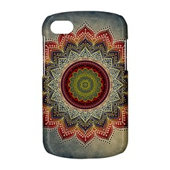 Folk Art Lotus Mandala Dirty Blue Red BlackBerry Q10