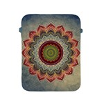 Folk Art Lotus Mandala Dirty Blue Red Apple iPad 2/3/4 Protective Soft Cases Front