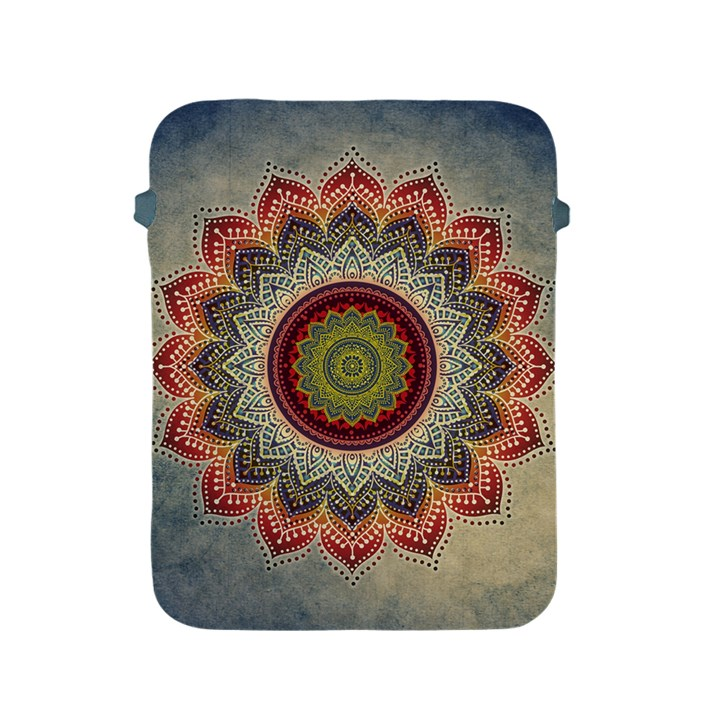 Folk Art Lotus Mandala Dirty Blue Red Apple iPad 2/3/4 Protective Soft Cases
