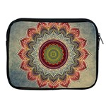 Folk Art Lotus Mandala Dirty Blue Red Apple iPad 2/3/4 Zipper Cases Front