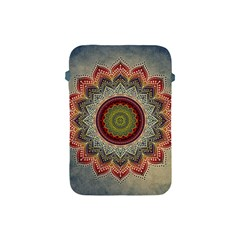 Folk Art Lotus Mandala Dirty Blue Red Apple iPad Mini Protective Soft Cases
