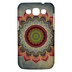 Folk Art Lotus Mandala Dirty Blue Red Samsung Galaxy Win I8550 Hardshell Case