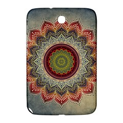 Folk Art Lotus Mandala Dirty Blue Red Samsung Galaxy Note 8.0 N5100 Hardshell Case