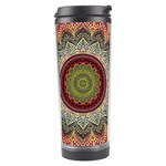 Folk Art Lotus Mandala Dirty Blue Red Travel Tumbler Center
