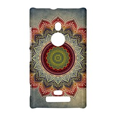 Folk Art Lotus Mandala Dirty Blue Red Nokia Lumia 925