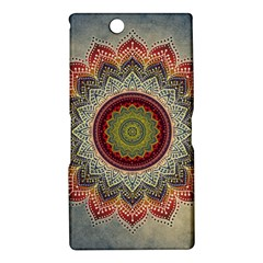 Folk Art Lotus Mandala Dirty Blue Red Sony Xperia Z Ultra