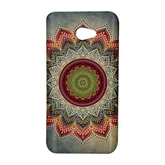 Folk Art Lotus Mandala Dirty Blue Red HTC Butterfly S/HTC 9060 Hardshell Case