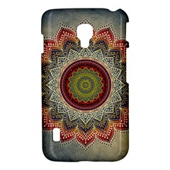 Folk Art Lotus Mandala Dirty Blue Red LG Optimus L7 II