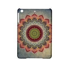 Folk Art Lotus Mandala Dirty Blue Red Ipad Mini 2 Hardshell Cases