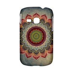 Folk Art Lotus Mandala Dirty Blue Red Samsung Galaxy S6310 Hardshell Case