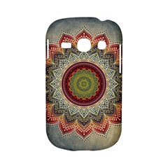 Folk Art Lotus Mandala Dirty Blue Red Samsung Galaxy S6810 Hardshell Case